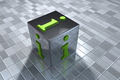 simbolo di 3D Info Immagine Stock