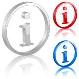 simbolo di 3D Info Fotografia Stock Libera da Diritti