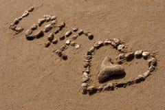 Simbolo di amore Fotografie Stock Libere da Diritti