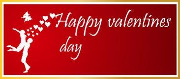 Simbolo di amore del ` s del biglietto di S. Valentino Fotografia Stock Libera da Diritti