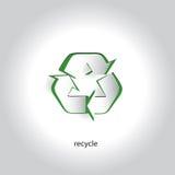 Simbolo di Art Paper Icon Design Recycling di vettore Fotografie Stock