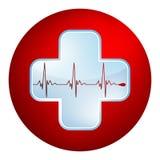 Simbolo di battito cardiaco e del cuore. ENV 8 illustrazione vettoriale