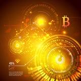 Simbolo di Bitcoin e grafico di prezzi Concetto di Cryptocurrency Progettazione futuristica di vettore Fotografia Stock Libera da Diritti