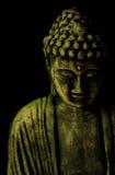 Simbolo di Buddhism su priorità bassa nera Immagine Stock Libera da Diritti