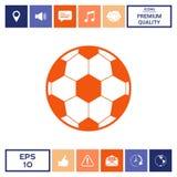 Simbolo di calcio Icona del pallone da calcio Fotografia Stock Libera da Diritti