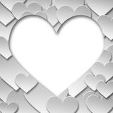 Simbolo di carta astratto del cuore di amore del biglietto di S. Valentino Fotografia Stock