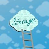 simbolo di computazione della nube Fotografia Stock Libera da Diritti