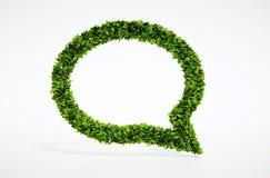 Simbolo di conversazione della bolla di ecologia Fotografia Stock
