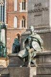 Simbolo di coraggio sul quadrato principale di Cracovia Immagini Stock