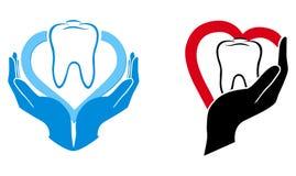 Simbolo di cura dentale Immagine Stock Libera da Diritti