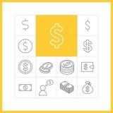 Simbolo di dollaro Fotografia Stock Libera da Diritti