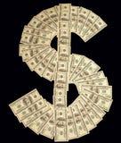 Simbolo di dollaro Fotografie Stock