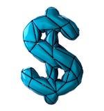 Simbolo di dollaro fatto nel poli stile basso isolato su fondo bianco Immagini Stock