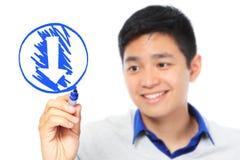 Simbolo di download Fotografie Stock Libere da Diritti