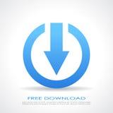 Simbolo di download gratuito Fotografie Stock Libere da Diritti