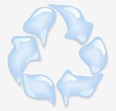 Simbolo di Eco dalle gocce dell'acqua Immagine Stock Libera da Diritti