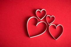 simbolo di forma del cuore 3D Fotografie Stock