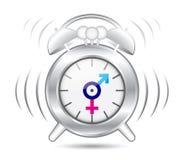 Simbolo di genere dell'orologio Fotografia Stock Libera da Diritti