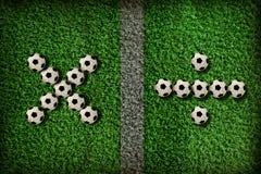 Simbolo di gioco del calcio Fotografia Stock Libera da Diritti