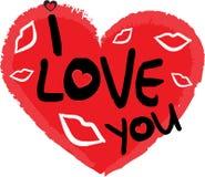 Simbolo di giorno dei biglietti di S. Valentino del cuore Fotografia Stock