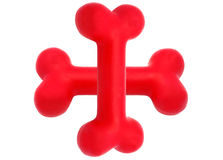 Simbolo di gomma dell'osso di cane Fotografia Stock