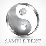 Simbolo di grey di yin yang Fotografie Stock