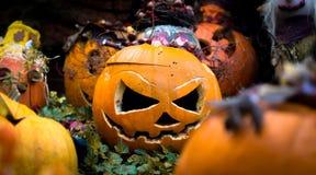 Simbolo di Halloween Zucca intagliata di Halloween immagine stock libera da diritti