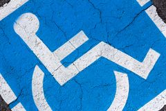 Simbolo di handicap fotografia stock libera da diritti