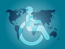 Simbolo di handicap Immagine Stock
