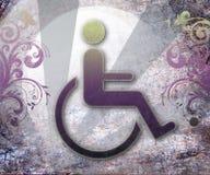Simbolo di handicap di accessibilità, priorità bassa Immagine Stock Libera da Diritti