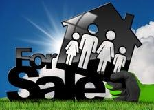 Simbolo di House For Sale di modello Fotografia Stock Libera da Diritti