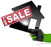 Simbolo di House For Sale di modello Immagine Stock Libera da Diritti