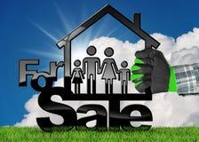 Simbolo di House For Sale di modello Immagini Stock