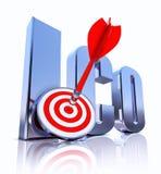 Simbolo di ICO Fotografie Stock Libere da Diritti