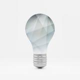 Simbolo di idea della lampadina illustrazione di vettore 3d latta Immagini Stock Libere da Diritti
