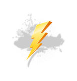 Simbolo di illuminazione Immagini Stock Libere da Diritti