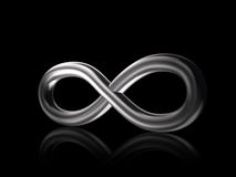 simbolo di infinità 3D Immagini Stock Libere da Diritti