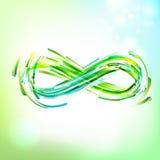 Simbolo di infinito al cielo leggero illustrazione di stock