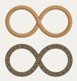 Simbolo di infinito nella corda e nelle strade della forma Simbolo di infinito ROA illustrazione vettoriale