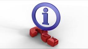 Simbolo di Info che rompe il segno del punto interrogativo Immagini Stock Libere da Diritti