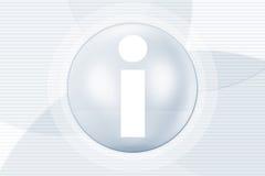 Simbolo di informazioni Immagine Stock