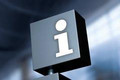 Simbolo di informazioni Fotografia Stock Libera da Diritti