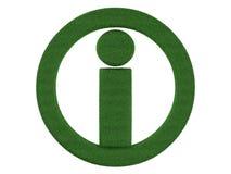 Simbolo di informazioni dell'erba Fotografie Stock Libere da Diritti