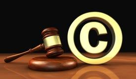 Simbolo di legge dell'icona di Copyright illustrazione di stock