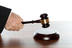 Simbolo di legge sulla tavola Fotografie Stock Libere da Diritti
