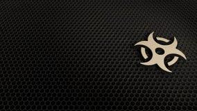 simbolo di legno 3d dell'icona di rischio biologico rendere royalty illustrazione gratis