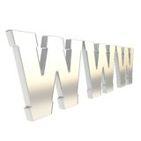 Simbolo di lettera di WWW di World Wide Web isolato Fotografia Stock Libera da Diritti