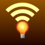 Simbolo di Lifi con la lampadina Immagine Stock