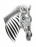 Simbolo di logo dell'emblema della zebra Fotografie Stock Libere da Diritti