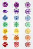 Simbolo di logo di illustratin di vettore delle azione del segno di Cakra del chakra fotografia stock libera da diritti